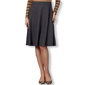 Boden Beautiful Gray & Black Polka Dot Skirt